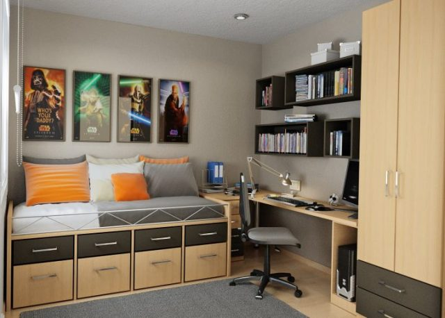 Ideas Dormitorio espectacular ahorro de espacio que se va a amar