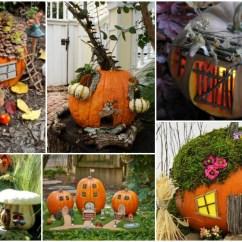 Living Room Set Diy Curtain Ideas 3 Windows Enchanting Pumpkin Fairy Houses That Will Fascinate You