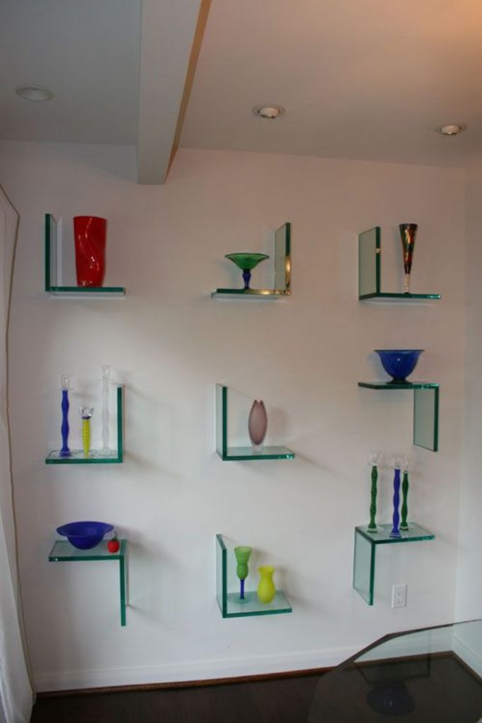 Amazing Glass Wall Shelves That Will Fascinate You