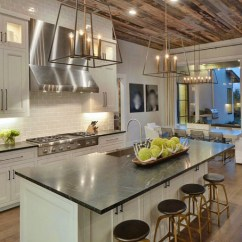 Kitchen Ceilings Used Cabinets Chicago Wood Give A Warm Look To Your