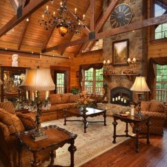 Log Cabin Living Rooms Ideas Blue And Brown Room Curtains Cozy Warm You Will Fall In Love With