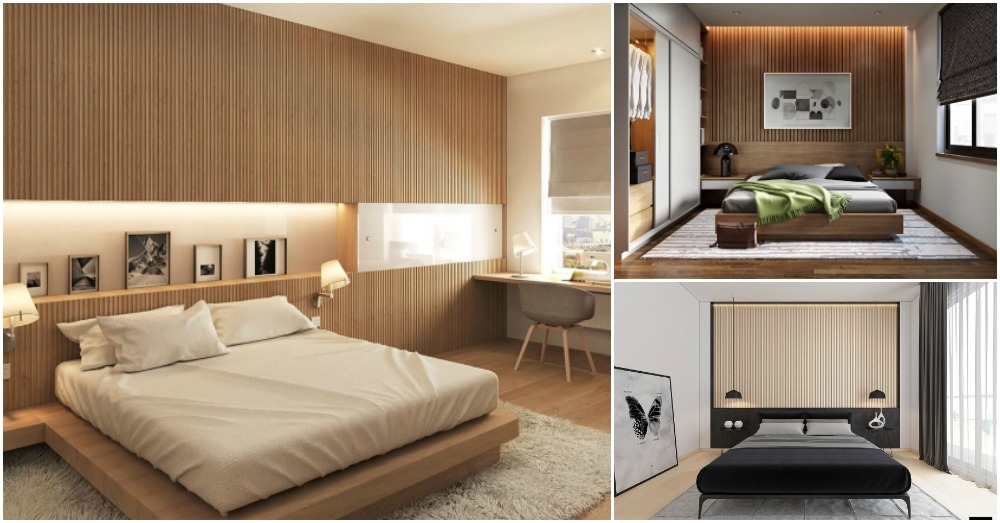 Wood Slat Accent Walls Add Warmth In Your Bedroom