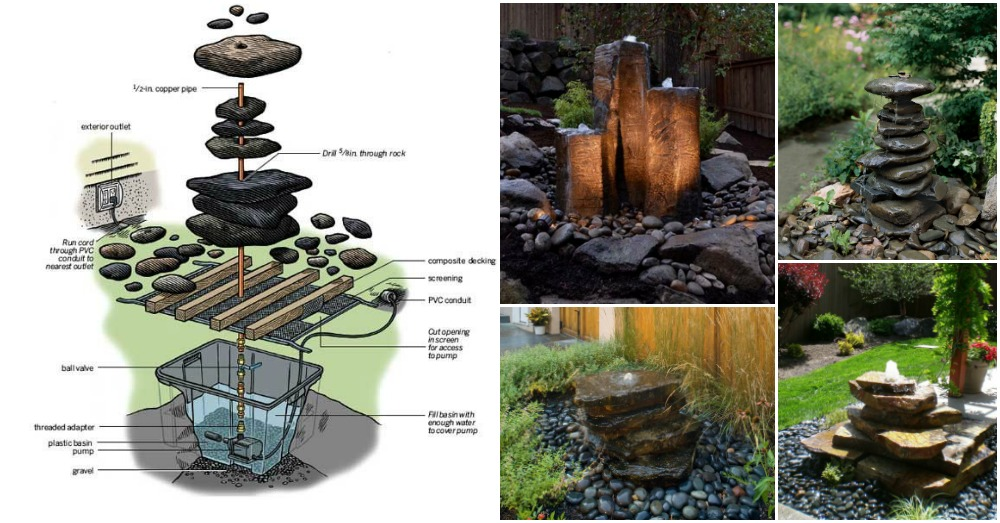 stacked stone outdoor kitchen gas stoves how to build a wonderful fountain for your garden