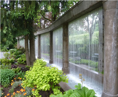 20 Impressive Ideas To Incorporate Rain Curtains In Any Yard