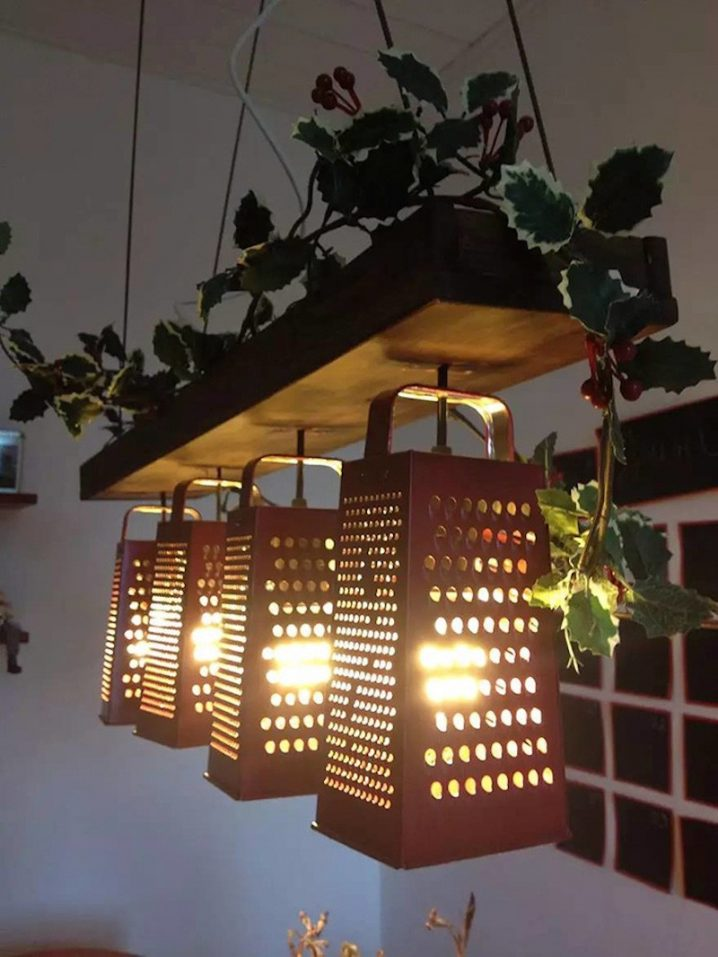 Mind Blowing Light Fixtures Made Of Old Kitchen Utensils