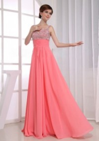 Watermelon Red Prom Dresses   Watermelon Color Prom ...