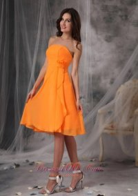 Orange Color Bridesmaid Dresses | Orange Red / Orange Yellow