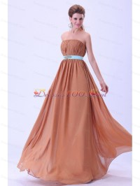 Rust Red Bridesmaid Dresses With Blue Belt and Ruching ...