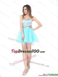 Sequined 2015 The Super Hot Sweetheart Light Blue Prom ...