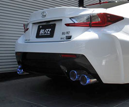 blitz nur spec f ti exhaust system titanium for lexus rcf 2015 2018