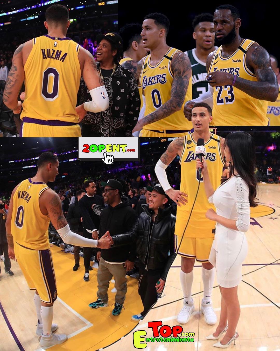 Kyle Kuzma Jay-Z Los Angeles Lakers Milwaukee Bucks 03.06.20