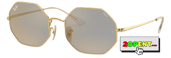 Ray Ban Octagon 1972 Mirror Evolve Grey Gold