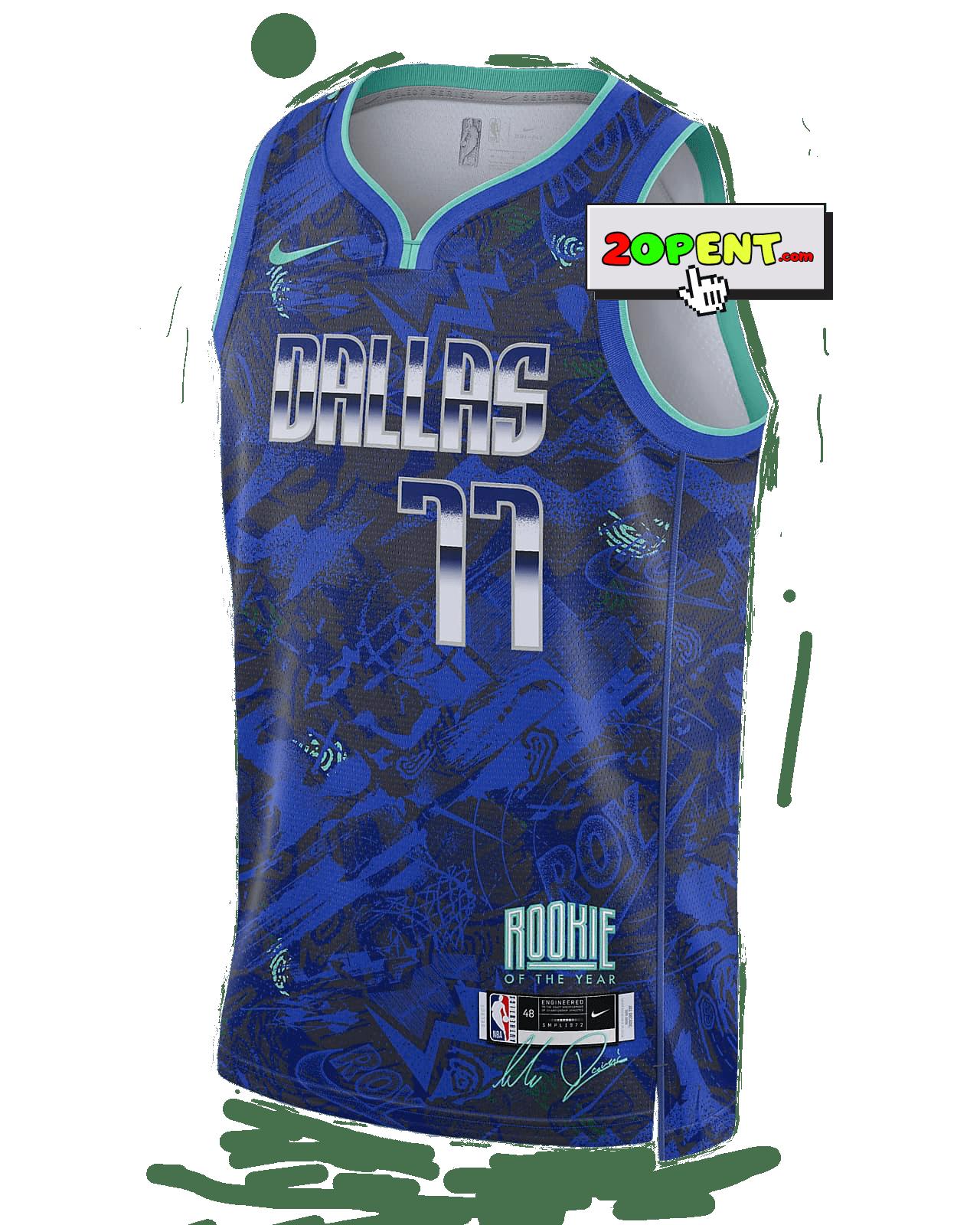 Dallas Mavericks Luka Dončić Rookie of the Year Jersey Nike Select Series NBA