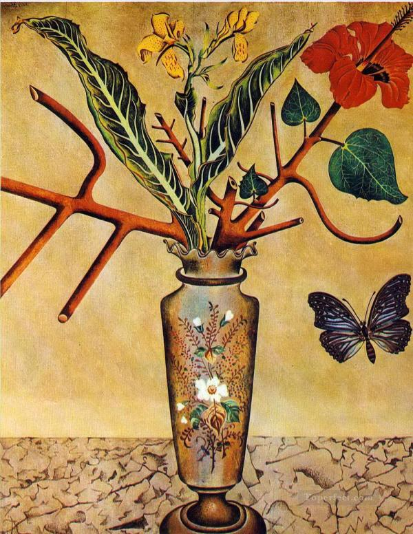 Flowers And Butterfly Dadaism Painting In Oil