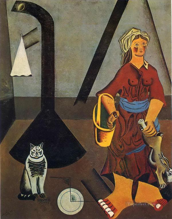 Farmer Wife Dadaism Painting In Oil