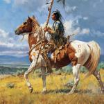 Western American Indians 21 Painting In Oil For Sale