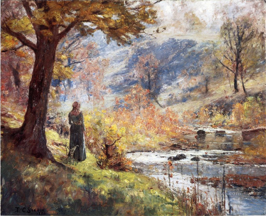 Morning By The Stream Impressionist Indiana Landscapes