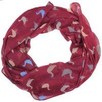 Duck print design women scarves (Burgundy) - Top Fashion Shop
