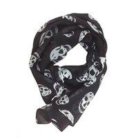 SODIAL(R) Ladies Fashionable Punk Pirate Skull Chiffon ...