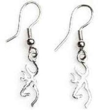 Browning Buckmark Sterling Silver Drop Earrings