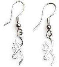 Browning Buckmark Sterling Silver Drop Earrings - Top ...
