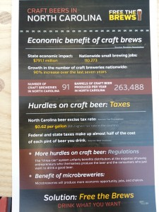 The handouts at Free the Brews