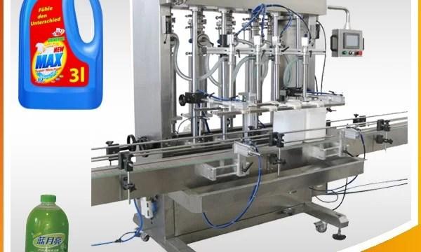 Double-Head Full-Automatic Piston Type Liquid Filling Machine