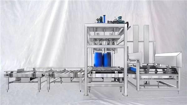 Riempitrice automatica per grandi tamburi serie ESDF Serie 100-1000L personalizzabile
