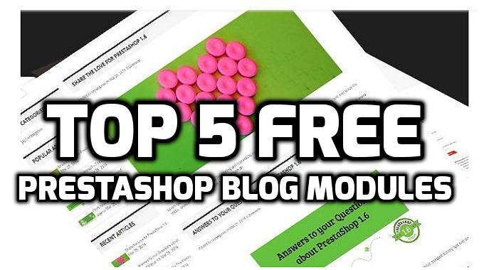 Top 5 Free PrestaShop Blog Modules