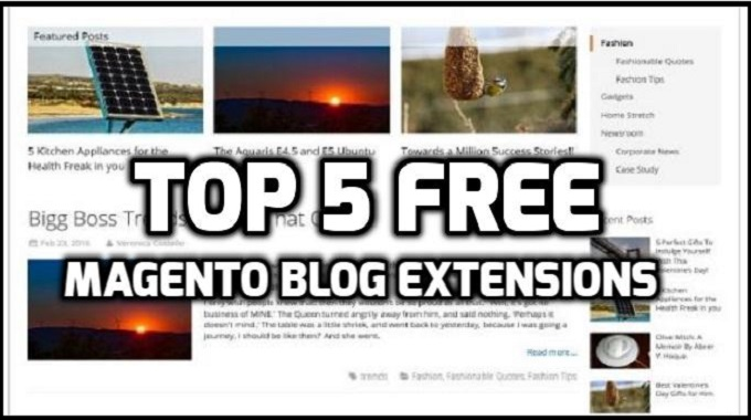 Top 5 Free Magento Blog Extensions