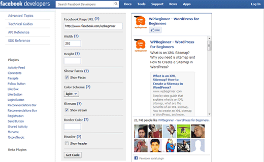 WP Facebook FanBox