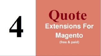 Top 4 Free Quote Extensions in Magento