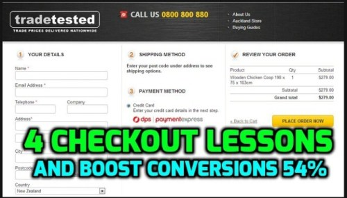Learn from these 4 Checkout Page Lessons and Boost Conversions 54%