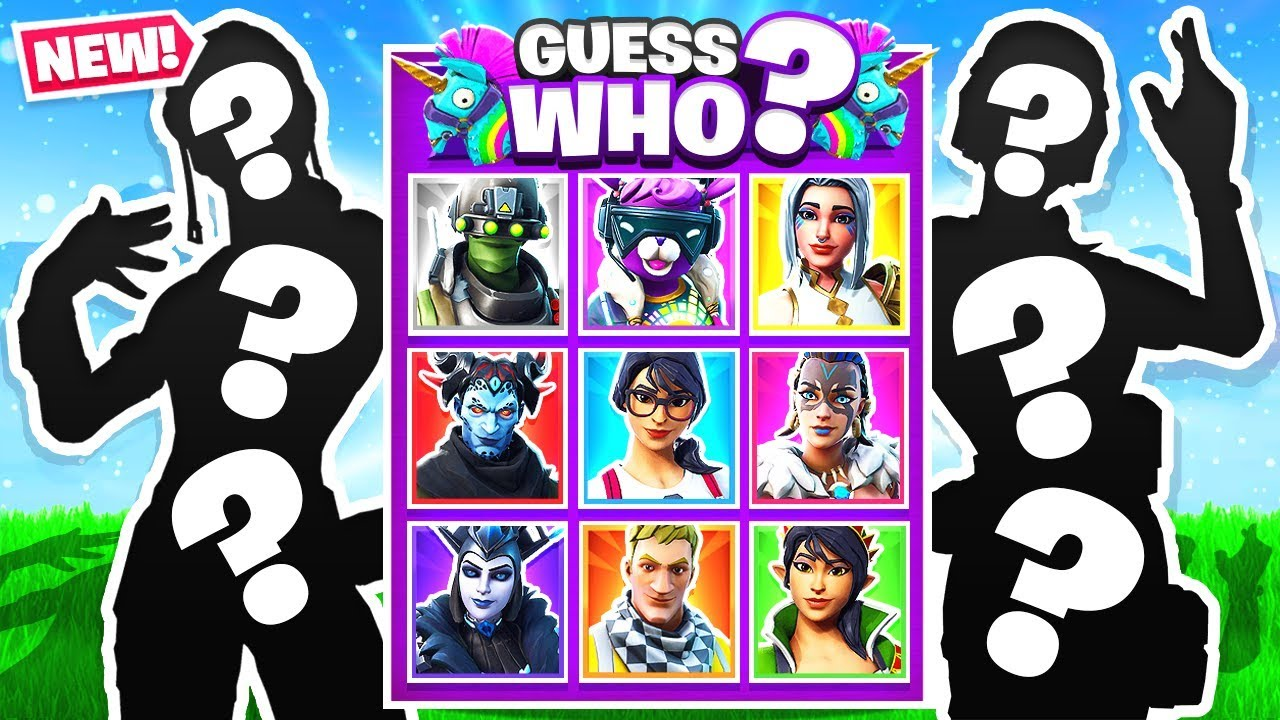 GUESS THE SKIN = YOU WIN! *NEW* GUESS WHO Game Mode in