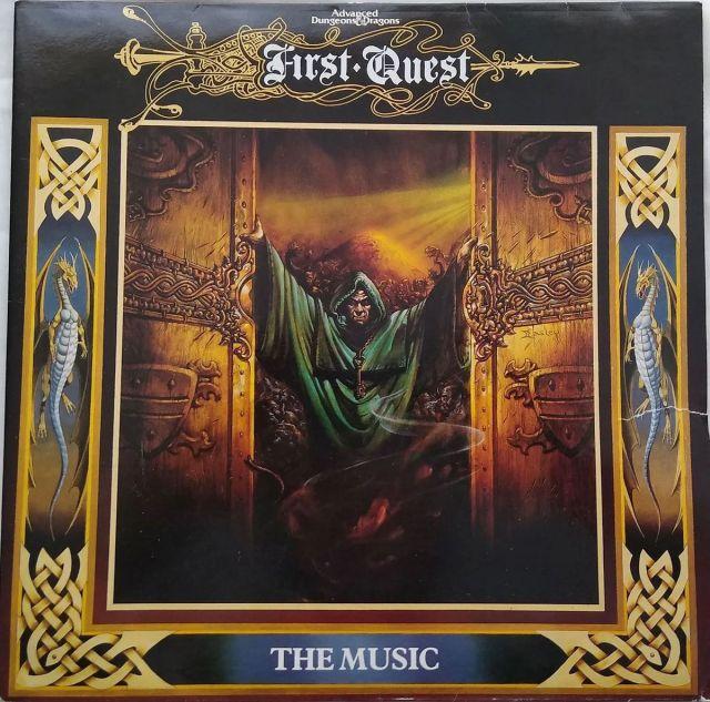 La portada de First Quest, con imágenes de Easley que se pueden ver en la portada de DMG.