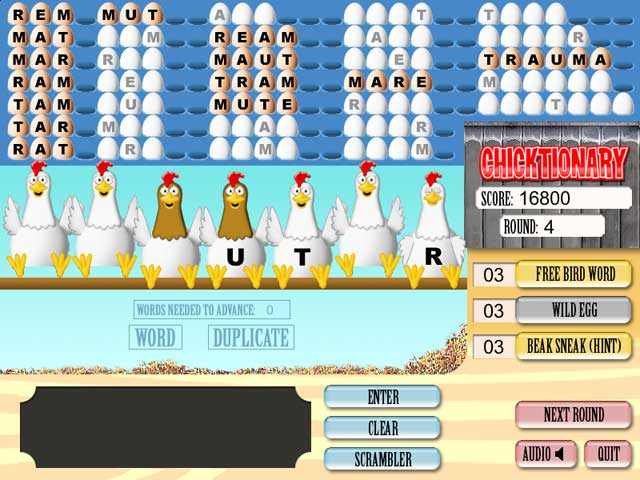 Chicktionary word game An eggciting word game Free