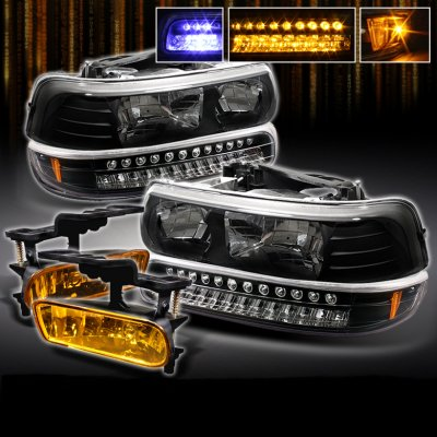 Anzo Light Bar Wiring Harness Chevy Suburban 2000 2006 Black Headlights And Bumper