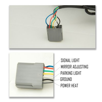 2008 Ford F 250 Mirror Wiring Diagram Ford F250 Super Duty 1999 2002 Towing Mirrors Led Drl