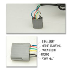 1999 Ford F250 Super Duty Wiring Diagram For Motorhome Batteries 1999-2002 Towing Mirrors Led Drl Lights Power Heated | A128zjov221 ...
