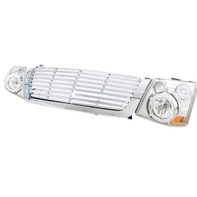 Chevy Avalanche 2003-2006 Chrome Billet Grille and