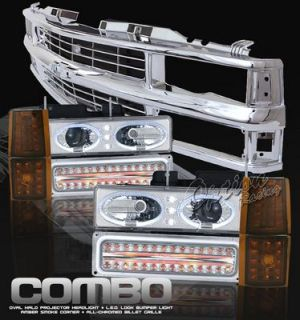 Chevy 1500 Pickup 19941998 Chrome Grille and Halo