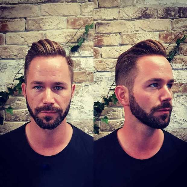 Beard Style High Fade Haircut For Men 2018