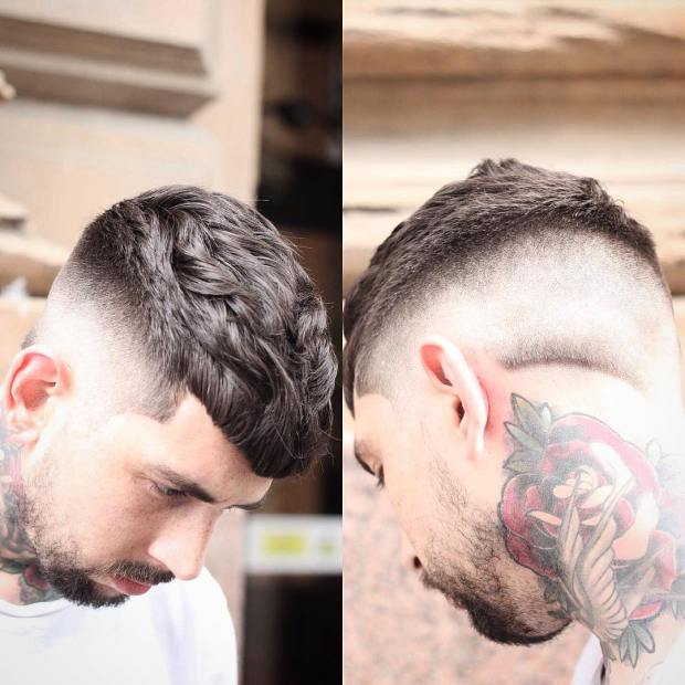 Beard Tattoo Short Haircut For Men