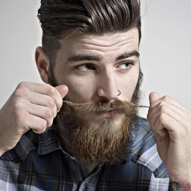 Cool Men Haircut With Beard