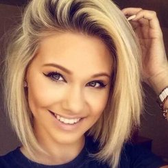 Short Hair For Round Faces 22