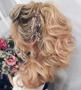 14 Half Up Curly Ponytail For Wedding