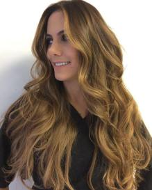 15 Long Honey Brown Hairstyle