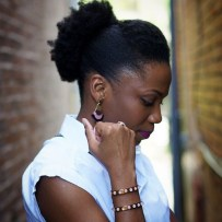 19 Afro Puff Updo