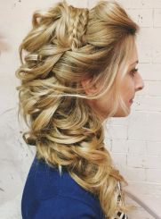 3 Half Up Curly Side Wedding Hairstyle For Long Hair