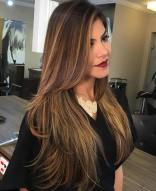 3 Long Brown Hair With Layers And Thin Highlights